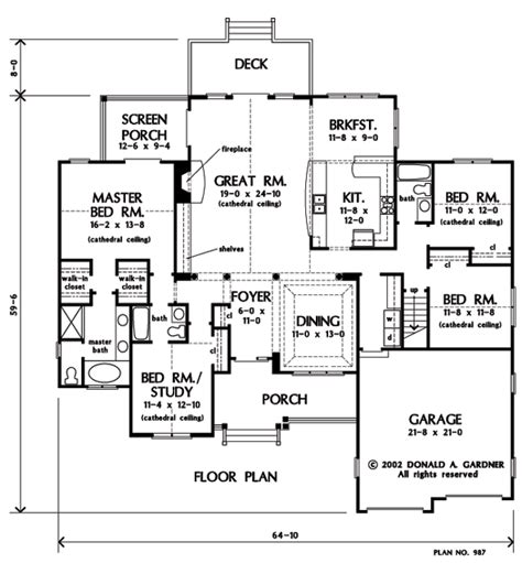 don gardner floor plans the zimmerman house plan images see photos of don
