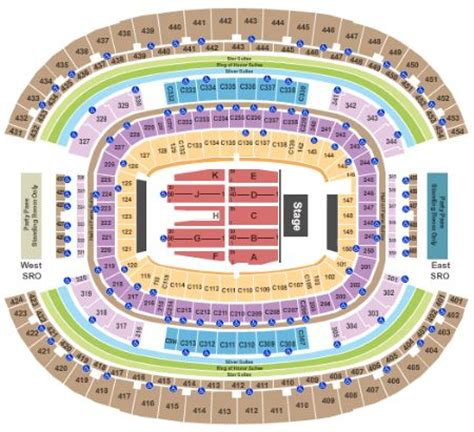 at t stadium map at t stadium tickets and at t stadium seating chart buy