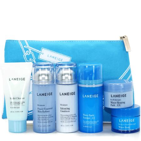 Laneige Essential Care Trial Set laneige new essential care trial set moisture 6 items