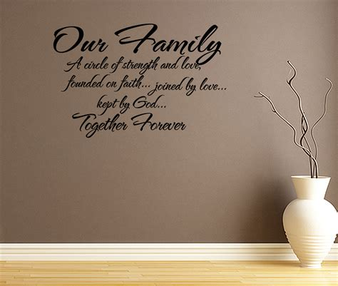 wall stickers family quotes our family circle of strength and wall decal quote