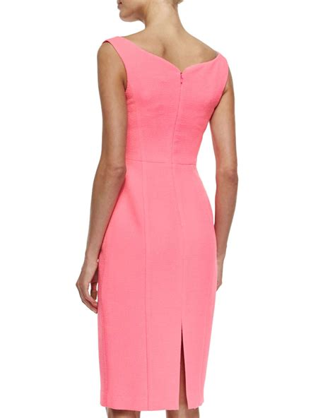 Lvzd Dress Vivo Pink lyst black halo sleeveless sweetheart sheath dress in pink