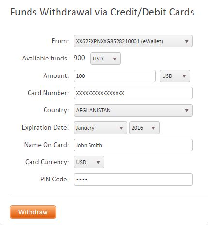 how to make a withdrawal from credit card withdrawal to visa mastercard