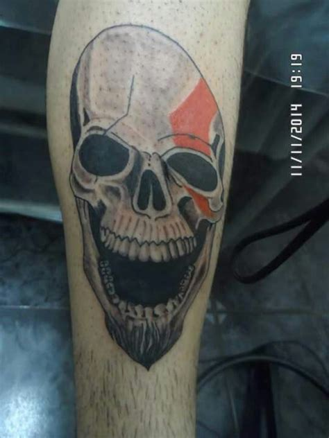 kratos tattoo kratos skull ideas tattoos