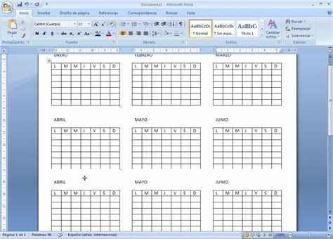 Calendario Word Plantilla Calendario Excel Calendario Para Imprimir