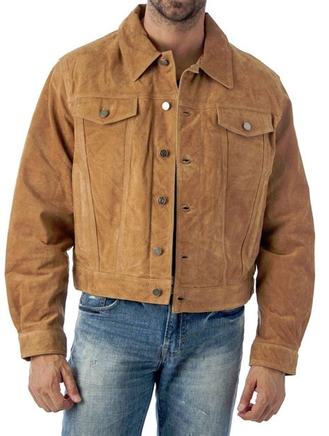 Shirts And Jackets Western Jean Style Suede Leather Shirt Jacket Reed Since