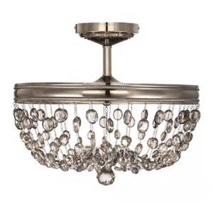 flush fitting chandelier malia semi flush circular ceiling light with smoked