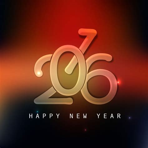 modern shiny new year 2016 card vector free
