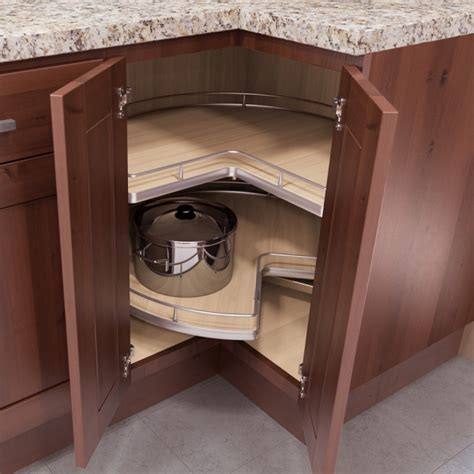 kidney shaped lazy susan platinum cabinetry in las vegas