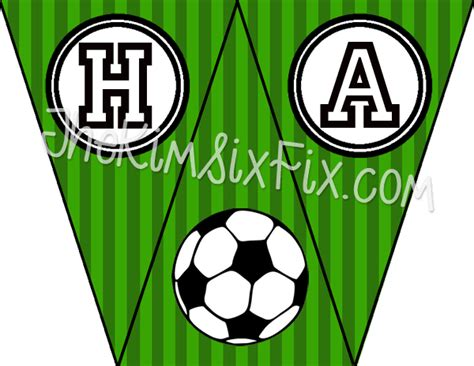 printable birthday soccer banner soccer birthday party and free printables the kim six fix