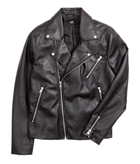 h m biker jacket in black for lyst