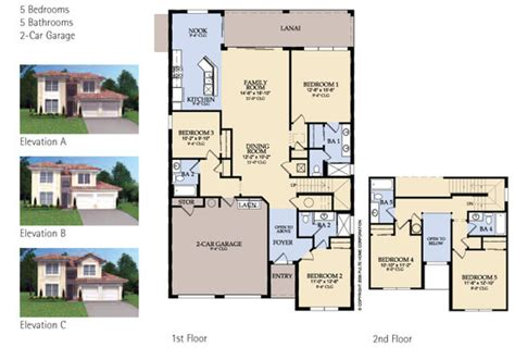 House Plans For Florida Windsor Hills Floor Plans Kissimmee Florida