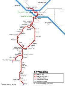 urbanrail net gt usa gt pittsburgh light rail t