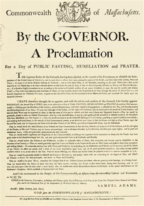prayers proclamations proclamation fasting humiliation and prayer 1795 massachusetts wallbuilders