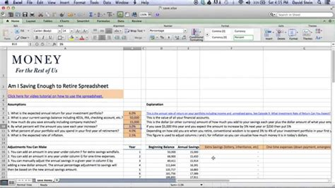 Retirement Calculator Spreadsheet by Retirement Planner Excel Spreadsheet And Financial