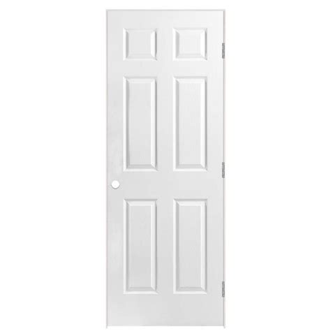 6 Panel Prehung Interior Doors Shop Masonite Prehung Hollow 6 Panel Interior Door Common 28 In X 80 In Actual 29 5 In