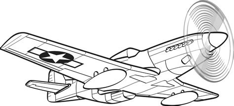 P 51 Mustang Coloring Pages by P51 Mustang Clipart Clipground