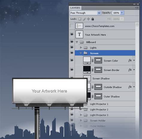 billboard template free psd files