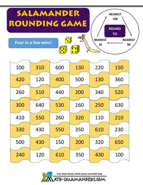 printable games for rounding numbers 4th grade math games booklet