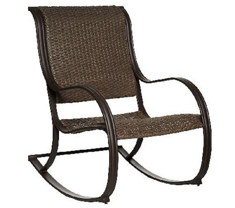 atleisure julia padded faux wicker rocking chair qvc com
