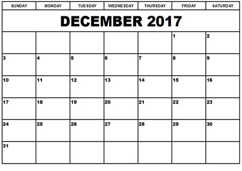 printable weekly calendar december 2017 december 2017 printable calendar templates
