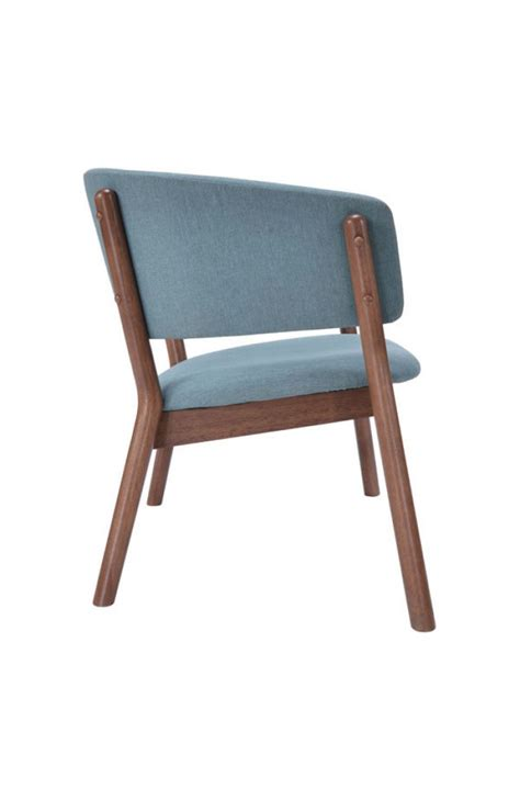 Blue Accent Chair Mariner Blue Wood Accent Chair Modern Furniture Brickell Collection
