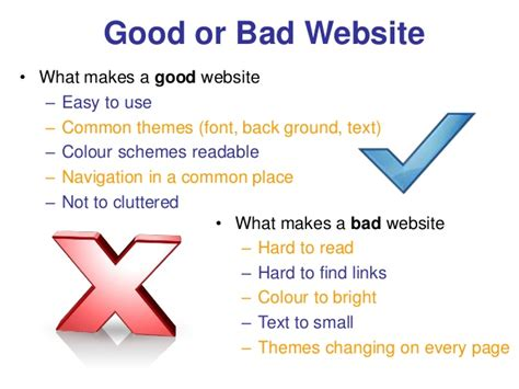 what website web design content