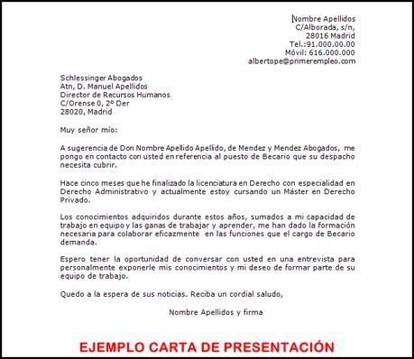 Modelo De Carta De Presentacion De Curriculum En Ingles La Carta De Presentaci 243 N Para El Curriculum Paperblog