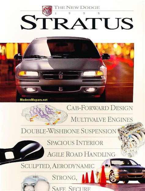 car manuals free online 1995 dodge stratus head up display dodge stratus specs 1995 2000 modernmopars net lx more cloud cars dodge dodge stratus