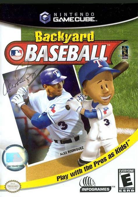 backyard baseball sur gamecube jeuxvideo