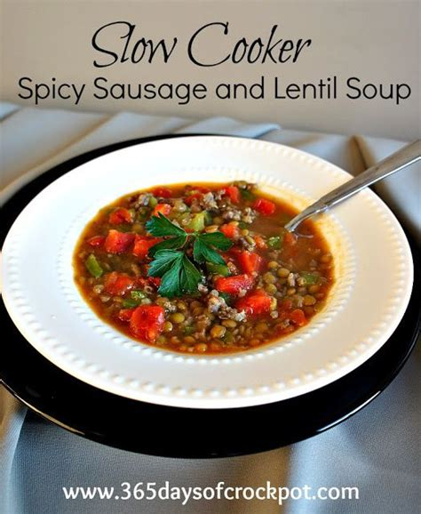 easy cooker recipes sausage lentil recipe for cooker crock pot spicy sausage and