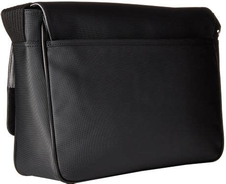 Lacoste Crocodelle Large Messenger Bag by Lacoste Classic Messenger Bag In Black For Lyst
