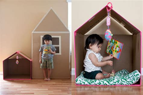 small house for kids cardboard houses crafts for kids pbs parents