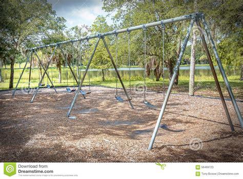 swing set preschool public swing set stock photo image 56469723