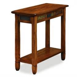 leick furniture rustic slate chairside small rustic oak