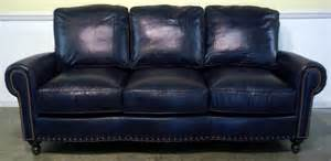 Navy Blue Leather Sofa And Loveseat Blue Leather Sofa Home Furniture Design