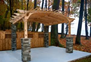 Wood Pergolas by Building A Pergola Is There A Better Way Than Wood