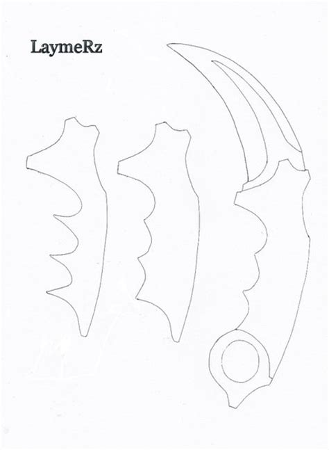 printable karambit template karambit template related keywords karambit template