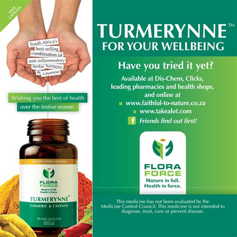 Colon Detox Dischem by Turmerynne Capsules From Flora For Your Well