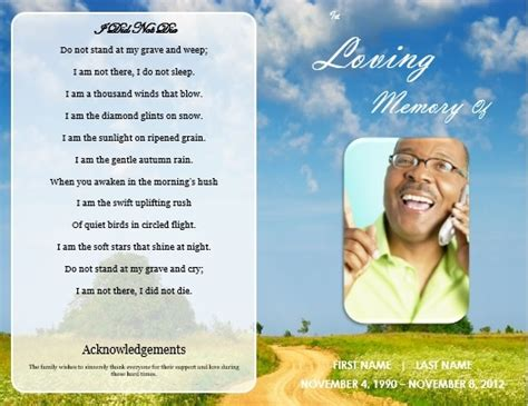 template for memorial service card 1000 images about printable funeral program templates on