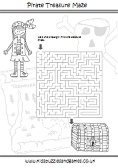 printable pirate maze pirates kids puzzles and games