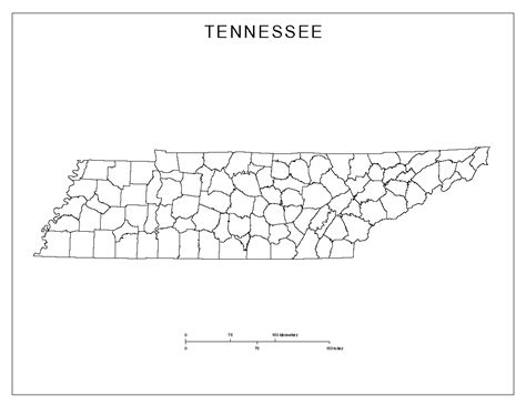 map of tennessee counties tennessee blank map
