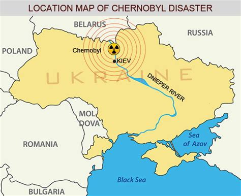 russia map before and after chernobyl disaster location map