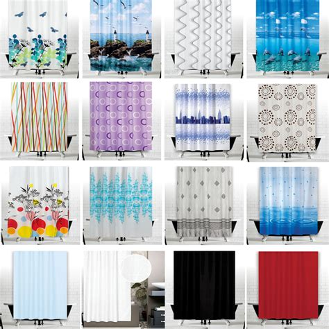 Great fabric shower curtains extra wide and long w240 x l200cm 94 quot x 78 quot ebay