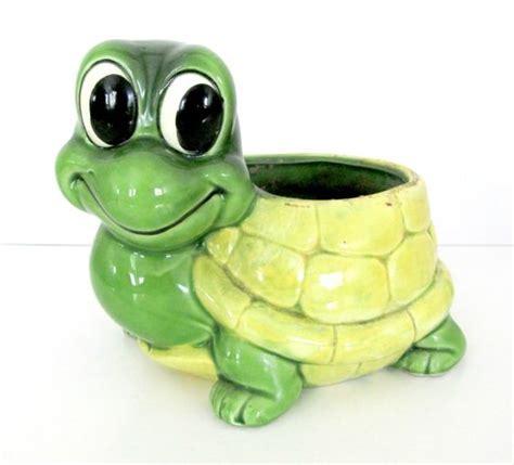 turtle planter vintage turtle planter 1960 s relpo ceramic turtle