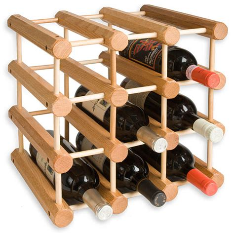 Wine Wood Rack by Modular 12 Bottle Wood Wine Rack In Wine Racks
