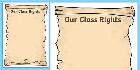 our class rights template our class rights class rights