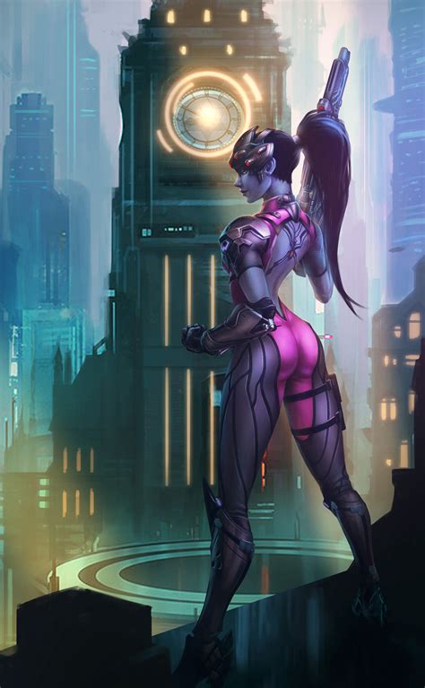 bruce liu fan art of widowmaker