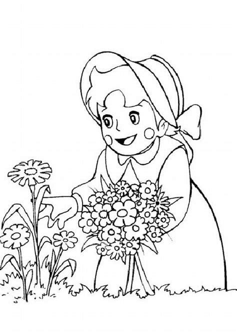 fiori da colorare e stare disegni da colorare di heidi