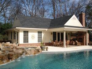 new pool and pool house complete with waterfall spa and central ma pool house contractor elmo garofoli