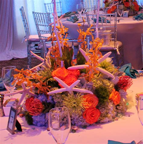 the sea centerpieces the sea bat mitzvah nautical